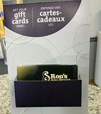 Rons Auto Service gift certificates